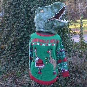 NWOT Derek Heart Ugly Llama Christmas Sweater